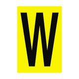 Letter W Yellow Sign - PVC Safety Signs