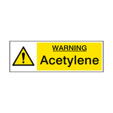 Acetylene Hazard Sign | PVCSafetySigns.co.uk