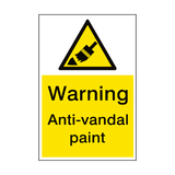 Warning Anti Vandal Paint Sign Portrait | PVC Safety Signs
