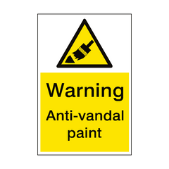 Warning Anti Vandal Paint Sign Portrait | PVC Safety Signs | Health and Safety Signs