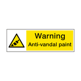 Warning Anti Vandal Paint Sign | PVCSafetySigns.co.uk