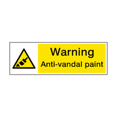 Warning Anti Vandal Paint Sign | PVC Safety Signs | Health and Safety Signs