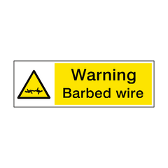 Warning Barbed Wire Hazard Sign | PVC Safety Signs | Health and Safety Signs