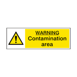 Contamination Area Sign | PVC Safety Signs