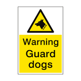 Warning Guard Dogs Sign Portrait | PVC Safety Signs