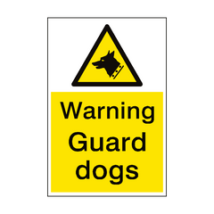 Warning Guard Dogs Sign Portrait | PVC Safety Signs | Health and Safety Signs