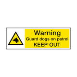 Warning Guard Dogs Patrol Sign | PVC Safety Signs