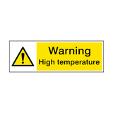 Warning High Temperature Hazard Sign | PVCSafetySigns.co.uk