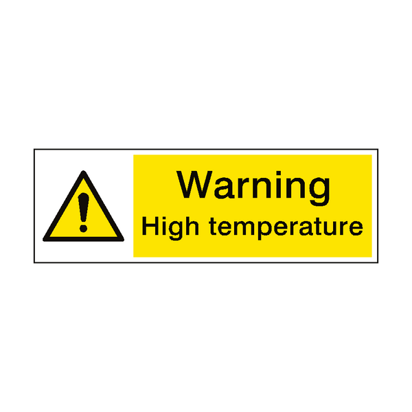 Warning High Temperature Hazard Sign | PVC Safety Signs