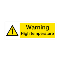 Warning High Temperature Hazard Sign | PVC Safety Signs | Health and Safety Signs