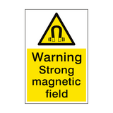 Warning Magnetic Field Sign Portrait | PVCSafetySigns.co.uk