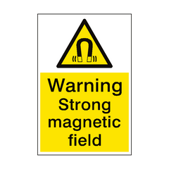 Warning Magnetic Field Sign Portrait | PVC Safety Signs | Health and Safety Signs
