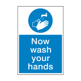 Wash Your Hands Mandatory Sign | PVCSafetySigns.co.uk