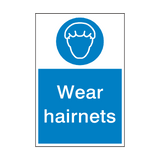 Wear Hairnets Sign | PVCSafetySigns.co.uk