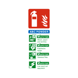 ABC Powder Fire Extinguisher Sign - PVC Safety Signs