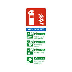 ABC Powder Fire Extinguisher Sign | PVC Safety Signs | Health and Safety Signs