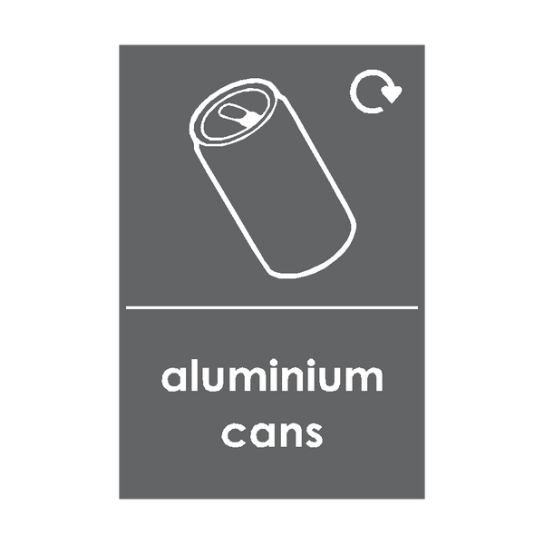 Aluminium Cans Waste Recycling Signs | PVCSafetySigns.co.uk