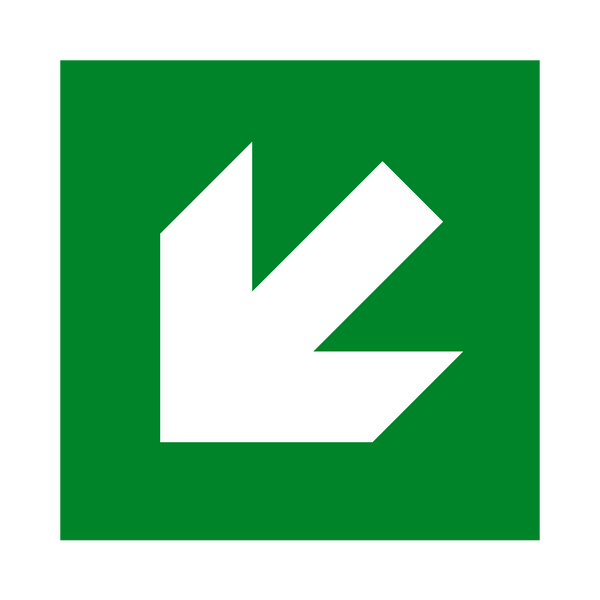 Arrow Down Left Sign | PVCSafetySigns.co.uk