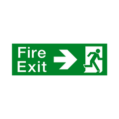 Fire Exit Arrow Right Sign - PVC Safety Signs | Safety Signs Specialists