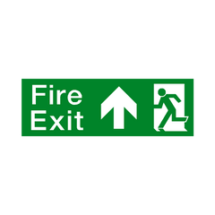Fire Exit Arrow Up Sign - PVC Safety Signs | Safety Signs Specialists