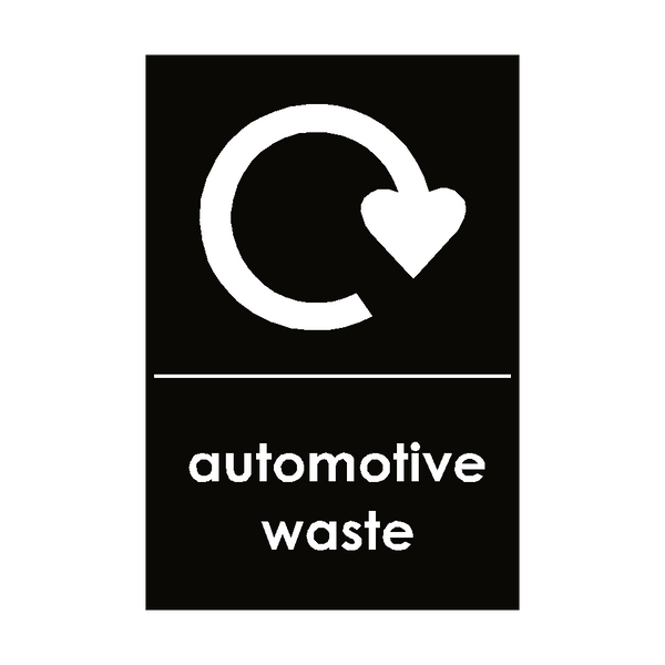 Automotive Waste Sign | PVCSafetySigns.co.uk