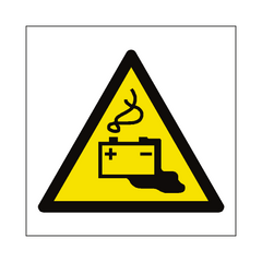 Battery Charging Hazard Symbol Sign | PVC Safety Signs | Health and Safety Signs
