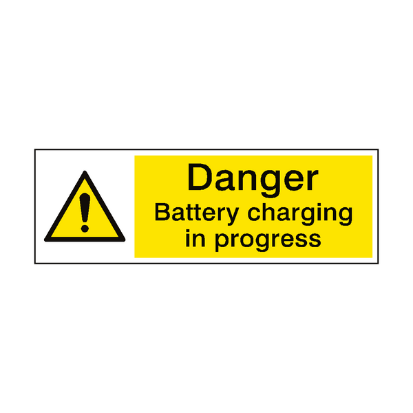 Battery Charging Hazard Sign | PVC Safety Signs