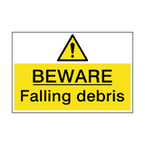 Beware Falling Debris Hazard Sign | PVCSafetySigns.co.uk