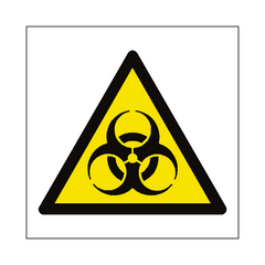 Biological Hazard Symbol Sign | PVC Safety Signs | Health and Safety Signs