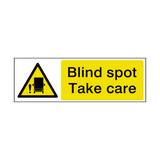 Blind Spot HGV Sign - PVC Safety Signs