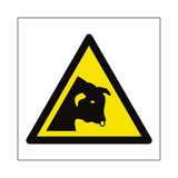 Bull Warning Symbol Sign - PVC Safety Signs