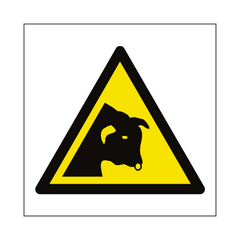 Bull Warning Symbol Sign | PVC Safety Signs | Health and Safety Signs