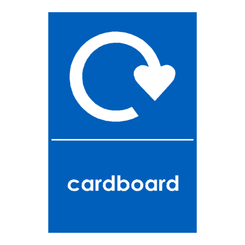 Recycling Cardboard Sign | PVC Safety Signs | Health and Safety Signs