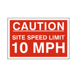 10 Mph Site Speed Limit Sign | PVC Safety Signs