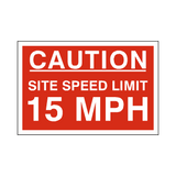 15 Mph Site Speed Limit Sign | PVC Safety Signs