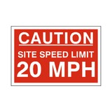20 Mph Site Speed Limit Sign | PVC Safety Signs