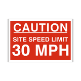 30 Mph Site Speed Limit Sign | PVCSafetySigns.co.uk