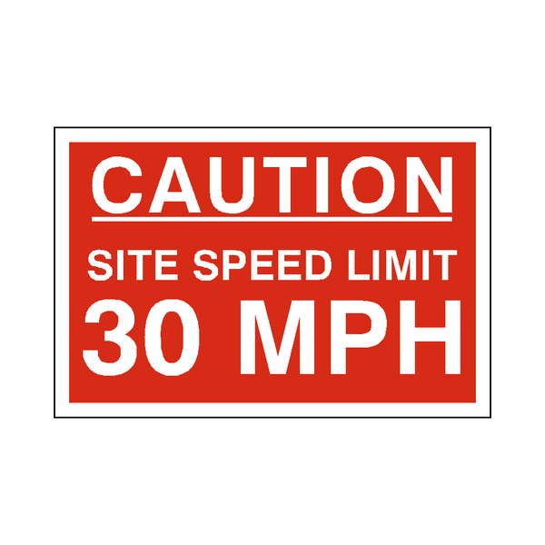 30 Mph Site Speed Limit Sign | PVC Safety Signs