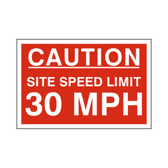 30 Mph Site Speed Limit Sign | PVC Safety Signs | Health and Safety Signs