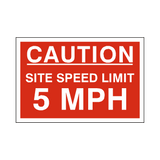 5 Mph Site Speed Limit Sign | PVCSafetySigns.co.uk