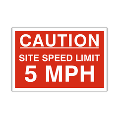 5 Mph Site Speed Limit Sign