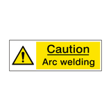 Caution Arc Welding Hazard Sign | PVCSafetySigns.co.uk