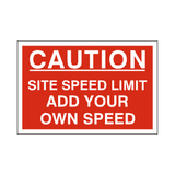 Custom Mph Site Speed Limit Sign | PVCSafetySigns.co.uk