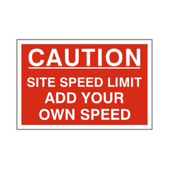 Custom Mph Site Speed Limit Sign | PVC Safety Signs | Health and Safety Signs