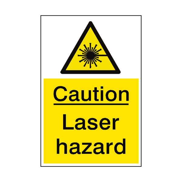 Caution Laser Sign | PVCSafetySigns.co.uk