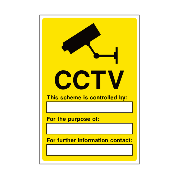 CCTV Security Sign | PVCSafetySigns.co.uk