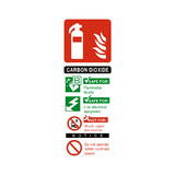 Carbon Dioxide Fire Extinguisher Sign - PVC Safety Signs