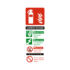 Carbon Dioxide Fire Extinguisher Sign | PVC Safety Signs | Health and Safety Signs