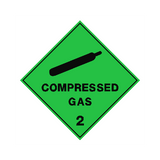 Compressed Gas Sign - PVC Safety Signs