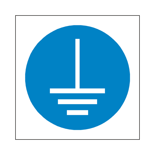 Connect Earth Terminal Symbol Sign | PVCSafetySigns.co.uk